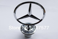 Metal MERCEDES BENZ W140 140 Car Hood Emblem Auto Front Badge Miss Cherry