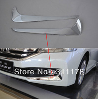Free shipping! 2 pcs ACCORD 9 ABS chrome Front Headlight Trim for ACCORD 2013