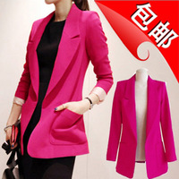 2013 autumn medium-long plus size blazer slim female blazer casual suit jacket