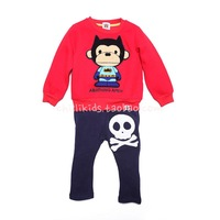 Fashion children's clothing 2013 male female child sweatshirt sports clothing