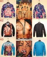 Latest new 2014 Fashion Women/Men 3D sweatshirt printing sexy naked top hoodies SKT01