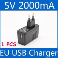 Free shipping eu plug usb power adapter 5v 2000mA 2a usb wall charger mobile phone mp3 mp4 mp5 adaptor LA-520
