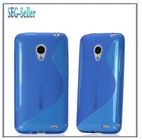 Free shipping soft silicone back skin tpu case for Meizu MX3 with touch pen