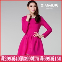 Zimmur 2013 autumn female long-sleeve dress slim women's loose