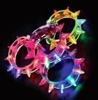 Best price Hot sale 100pcs LED bracelet light up flashing bracelet Blinking Spike bracelet for party