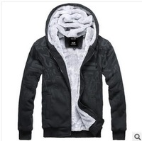 Men's fleece cardigan coat thick wool liner sports casual cotton jacket male coat male approval
