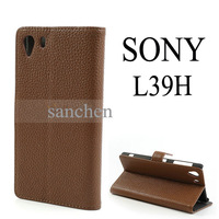 5 species pattern Litchi Leather (PU) Wallet Case Cover With Stand For Sony Xperia Z1 Honami C6903 C6902 C6943 L39h FreeShipping
