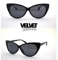Vintage Cat Eye Women's Sunglasses High Fashion Designer Brands 2013 New Free Shipping