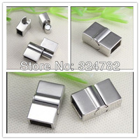20PCS Antique Silver Tone Square shape Magnetic Clasps for making Leather Bracelet jewelry findings