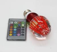 Led crystal lamp rgb 3w crystal remote control lamp colorful lights spotlights ktv christmas decoration lamp acrylic