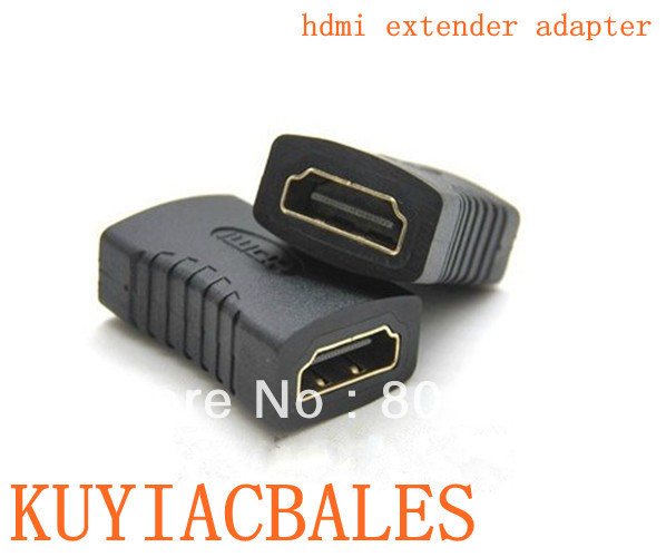 HDMI Female To HDMI Female Adapter Plug HDMI Extension cord Adapter HDMI Plug ,Free shipping dropshipping(China (Mainland))