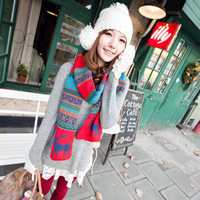 Deer christmas bohemia elizabethans double faced autumn and winter yarn lovers design big long scarf