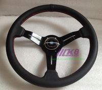 Suede Leather 14inch Steering wheel/ Universal Red Stitch Sports Racing steering /steering wheel