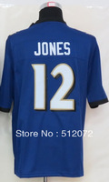 #12 Jacoby Jones Men's Game Team Purple Football Jersey