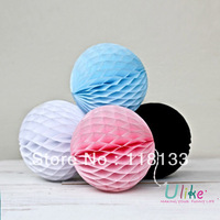12'' 30cm 100pcs 12colors Free shipping colorful party decoration ball wedding round honeycomb ball wedding ball birthday ball