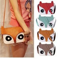2014 bolsas bolsa free shipping cute for fo x head design women messenger bag shoulder bags cheap pu leather handbags rushed