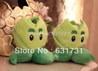 1pcs Free Shipping! 2014 China Promotional Children Soft Toy Plants VS Zombles Toys Mini 15CM Amusing Plush Doll Cabbage Pult