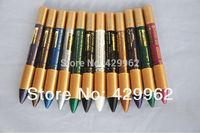 12 PCS brand High Quality  Shining Cream Eye Shadow Emerald Pencil makeup
