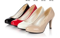 High heels 2013 single shoes platform high-heeled shoes women's shoes black white work shoes red bride wedding shoes
