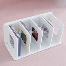 Cd rack cd large capacity disc storage rack dvd cd box devece white