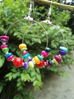 National trend accessories vintage tibetan jewelry drop earring miao silver big circle silver earrings yc277