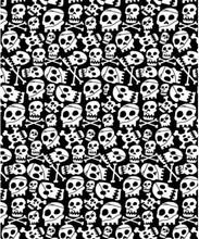 Crânio personalizado clássico preto e branco terylene impermeável cortina de chuveiro do banheiro cortina de pano 180 * 180(China (Mainland))