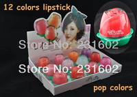 (12pcs/set) 2013 new Three-dimensional moisturizing lip ice brand High quality lipgloss lipstick in 12 Fashion color