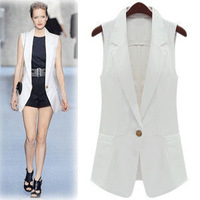 Fashion Slim Medium-long One Button Sleeveless All-match Women's  Vest  G521 Free Shipping