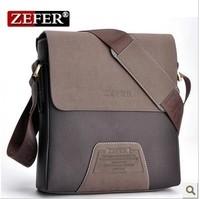 Free shipping  Zefer men's singles shoulder bag / men casual canvas bag /Men's Messenger Bag
