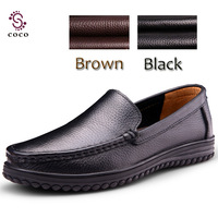 2013 hot !  best quality 100%Genuine Leather men's flats Soft Loafers Oxfords Comfortable Driving Shoes Classical men Sneakers