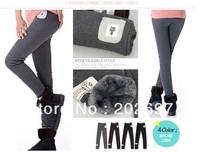 wholesale and free shipping 2013 new non inverted velvet kitten Leggings