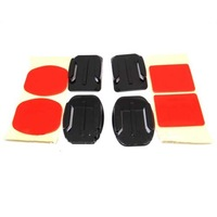 2x Flat Mounts & 2x Curved Mounts with adhesive pads for GoPro Hero 3/2/1   Free Shipping
