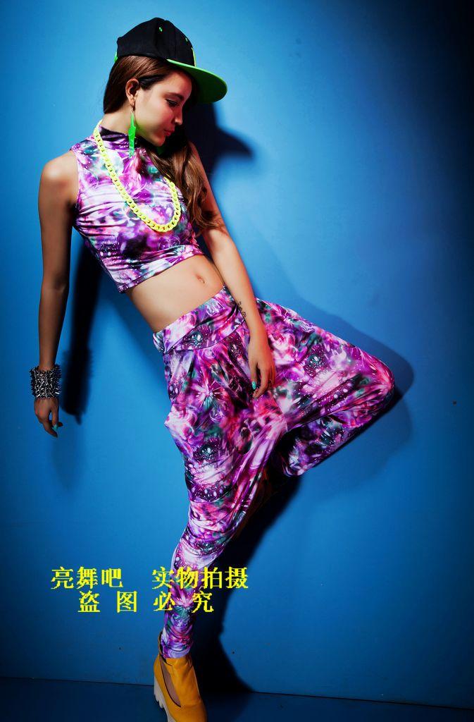 New fashion Harem Hip Hop Dance trousers cosmo galaxy print jogging pants joggers loose Sweatpants Costumes female sports pants(China (Mainland))