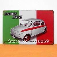 [ Do it ] FIAT 500CAR Retro Metal Tin Signs PUB House Vintage Metal paintings Decoration 20*30 CM B-98 Mix Orders