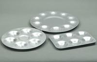 GJSS06 Paint Palettes Aluminium Palette Art Supplies Round Oblong 3 In 1 NEW