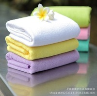 Bamboo fiber towel 4 installed. Soft and absorbent. Plain washcloth. Special offer free shipping noble simplicity