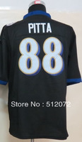#88 Dennis Pitta Men's Game Alternate Black Football Jersey