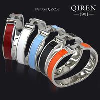 Enamel Original Design H Bracelet Special Clasp Women Bangle Silver H Brand QR-238 Women Bracelet