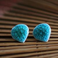 National trend earrings fashion elegant fresh the crack ceramic earrings blue Women masklike stud earring