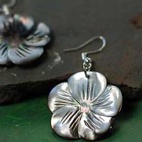 National trend accessories earrings handmade vintage earrings flower shell earrings fashion