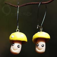 National trend accessories earrings delicate mushroom earrings personalized vintage earrings fashion earrings female