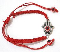 10pcs Hamsa Hand Evil Eye Red String Kabbalah Bracelet with Revolving Lucky Eye 01768
