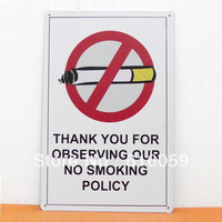 [ Do it ] No Smoking Policy Metal Tin Signs  PUB House Retro Iron paintings Decor 20*30 CM B-100