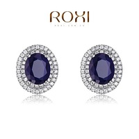 ROXI Christmas Delicate Gem blue Earrings,Gift to girlfriend is beautiful,Pure handmade fashionable elegance,502001900