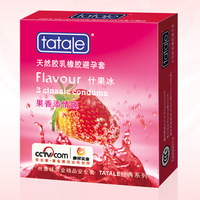 Totole fruit flavor delay condoms durable compounding filling condom 3 adult fun sex products