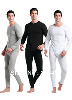 autumn winter warm mens long johns brand long sleeves t shirt + pants for men