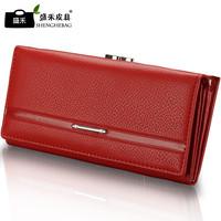 Women's wallet genuine leather long wallet cowhide women's design day clutch