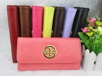 2013 fashionable casual long design women's wallet multicolor