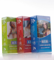 New arrival male female condom ultra-thin condoms enduring super smooth vibration time delay set adult sex products
