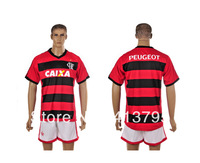 Flamenco home soccer jersey kits 13 14 football uniforms with embroidery logo free Customize name number
